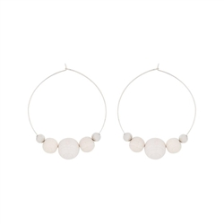 Aarikka PUJO Earrings, ecru white, large